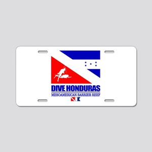 Dive Honduras Aluminum License Plate