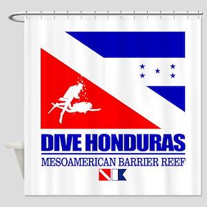 Dive Honduras Shower Curtain