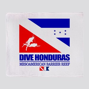 Dive Honduras Throw Blanket