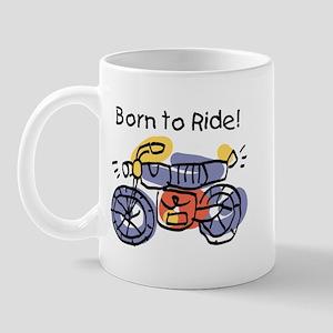 Child Art Born To Ride Mug