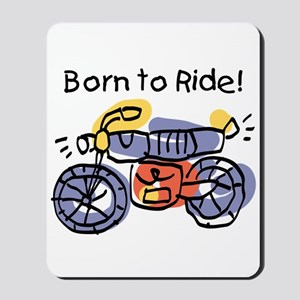 Child Art Born To Ride Mousepad