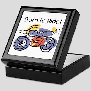 Child Art Born To Ride Keepsake Box
