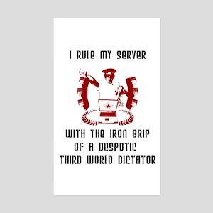 """Admin Dictator"" Rectangle Sticker"