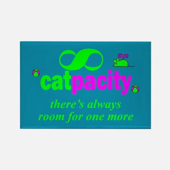 Infinite catpacity. Rectangle Magnet