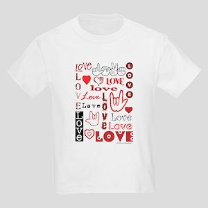 Love WordsHearts Kids Light T-Shirt