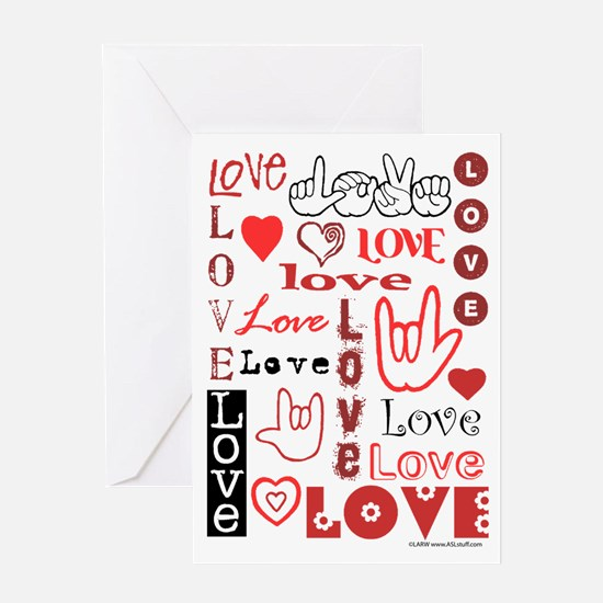 Love WordsHearts Greeting Card