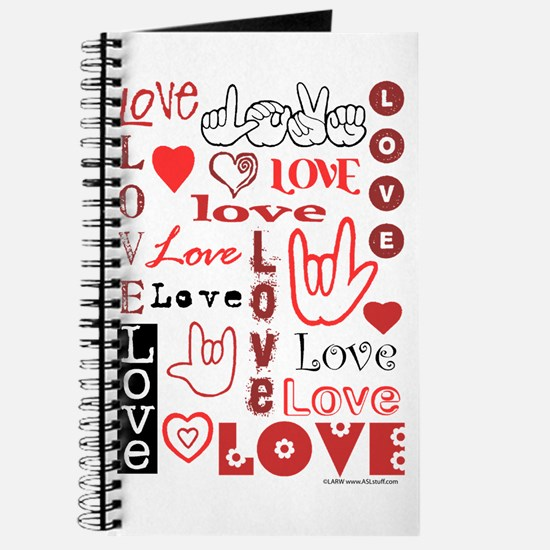 Love WordsHearts Journal