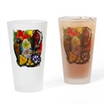 Aloha Hawaii Parrots Flowers Drinking Glass