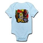 Aloha Hawaii Parrots Flowers Body Suit