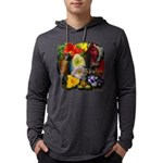 Aloha Hawaii Parrots Flowers Long Sleeve T-Shirt