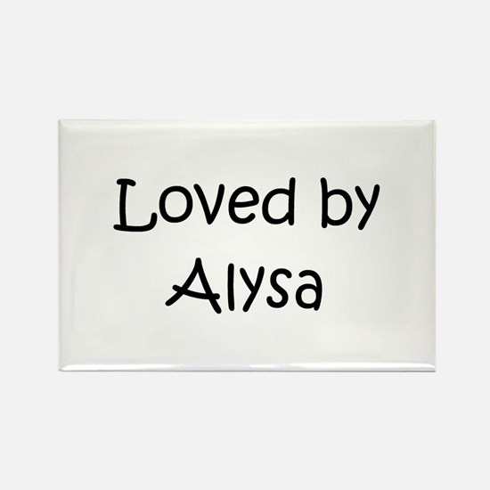 Cute Alysa Rectangle Magnet