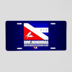 Dive Honduras Aluminum License Plate