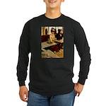 Absinthe Drinker Long Sleeve Dark T-Shirt