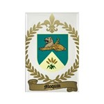 MOQUIN Family Crest Rectangle Magnet