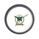 MOQUIN Family Crest Wall Clock