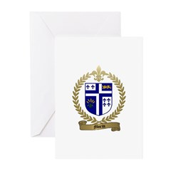 MORIN Family Crest Greeting Cards (Pk of 10)