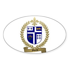 MORIN Family Crest Oval Decal