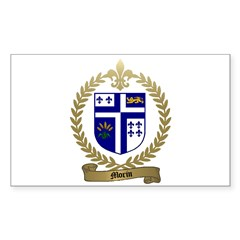 MORIN Family Crest Rectangle Decal