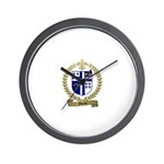 MORIN Family Crest Wall Clock