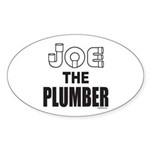 JOE THE PLUMBER Oval Sticker (10 pk)