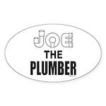 JOE THE PLUMBER Oval Sticker (50 pk)