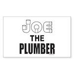 JOE THE PLUMBER Rectangle Sticker 10 pk)