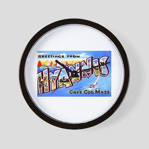 Hyannis Cape Cod Massachusetts Wall Clock
