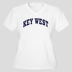 KEY WEST Women's Plus Size V-Neck T-Shirt