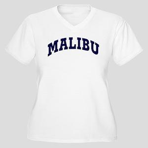 MALIBU Women's Plus Size V-Neck T-Shirt