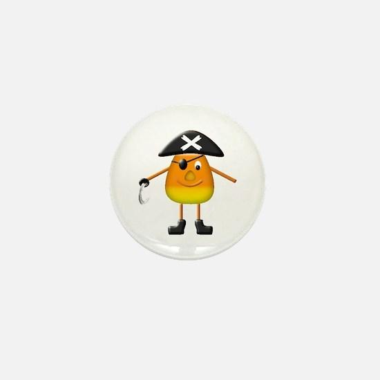 Candy Corn Pirate Mini Button
