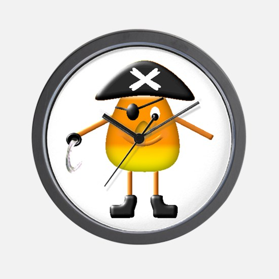 Candy Corn Pirate Wall Clock