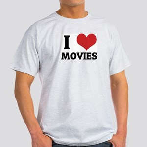 I Love Movies Ash Grey T-Shirt
