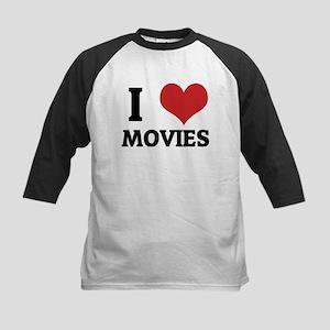 I Love Movies Kids Baseball Jersey