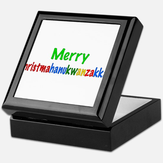 Merry Christmahanukwanzakkah Keepsake Box