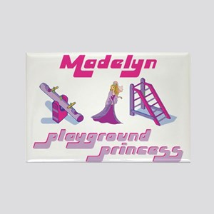 Madelyn - Playground Princess Rectangle Magnet