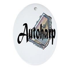 Autoharp Oval Ornament