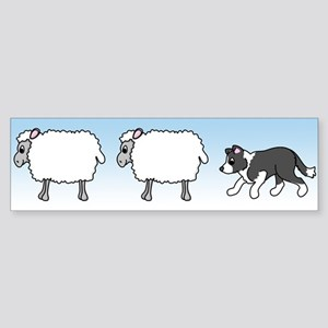 Herding Border Collie Bumper Sticker