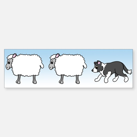 Herding Border Collie Bumper Bumper Bumper Sticker