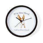 Its an Ibizan Hound Wall Clock