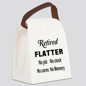 Retired Flatter Canvas Lunch Bag