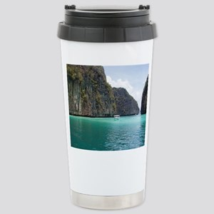 Blue Lagoon Stainless Steel Travel Mug
