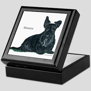 Laughing Scottish Terrier Keepsake Box