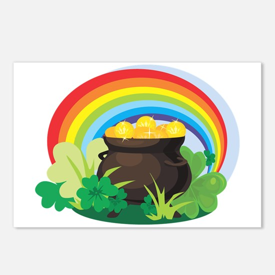 POT OF GOLD Postcards (Package of 8)