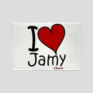 I Love Jamy Rectangle Magnet