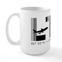 Loreto Airport Code Mexico LTO Baja Large Mug