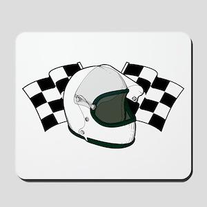 Helmet & Flags Mousepad