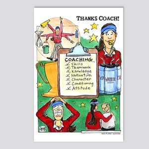 Great Coach (F) Thanks! Postcards (Package of 8)