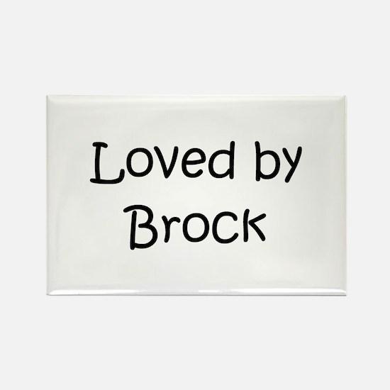 Cute Brock name Rectangle Magnet