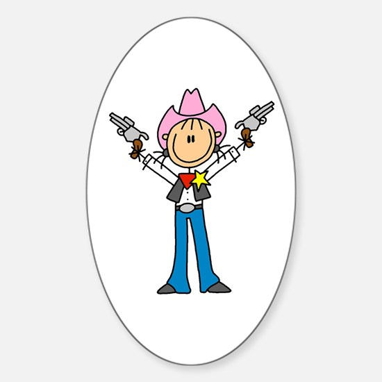 Girl Sheriff Oval Decal
