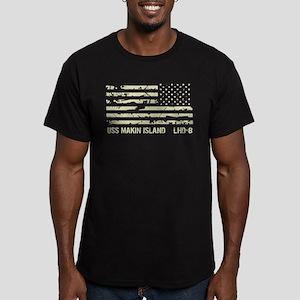 USS Makin Island Men's Fitted T-Shirt (dark)